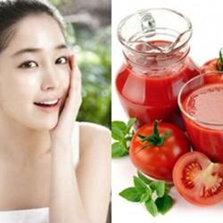 6 thức uống làm đẹp từ quả cà chua