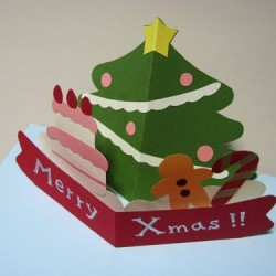 Cách làm thiệp Giáng sinh hình cây thông Noel