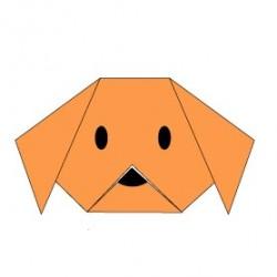 [Origami] Xếp giấy hình mặt chú chó