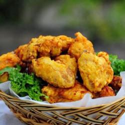 Cùng ăn gà rán hương cà ri giòn tan nào cả nhà!