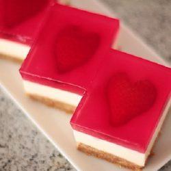 Tỏ tình với cheesecake thạch trái tim