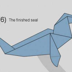 [Origami] Hướng dẫn xếp hình con hải cẩu