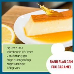 Thêm vị mới với – Bánh flan cam phủ carame