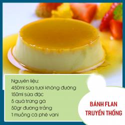 Bánh plan trứng truyền thống